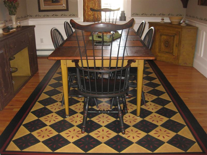 Timeless floorcloths home for Painted vinyl floor cloth